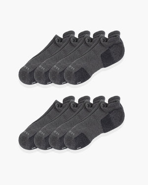 mens ankle sock in a charcoal 8 pack