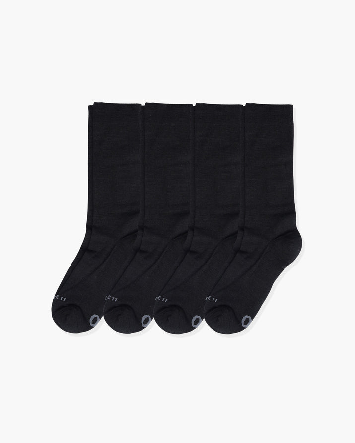 mens crew sock in a 4 black pack
