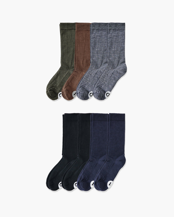 mens crew sock in a 8 mix1 pack