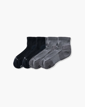 mens quarter sock in a 4 mix2 pack