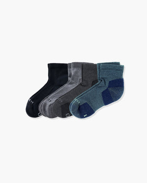 mens quarter sock in a 4 mix4 pack