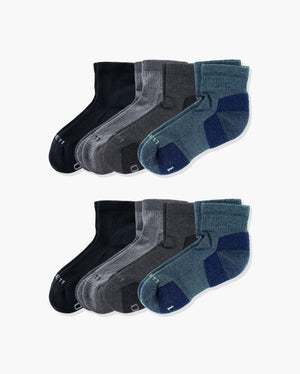 mens quarter sock in a 8 mix4 pack