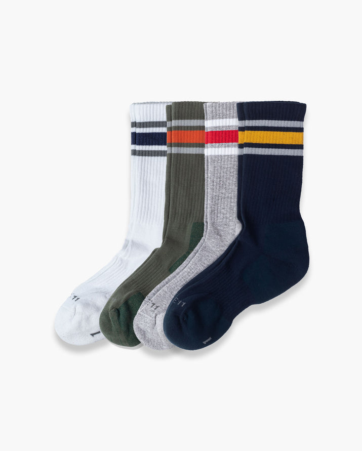 mens crew sock in a 4 mix2 pack