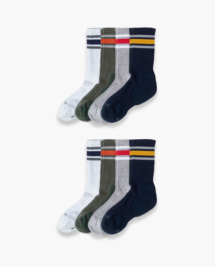 mens crew sock in a 8 mix2 pack