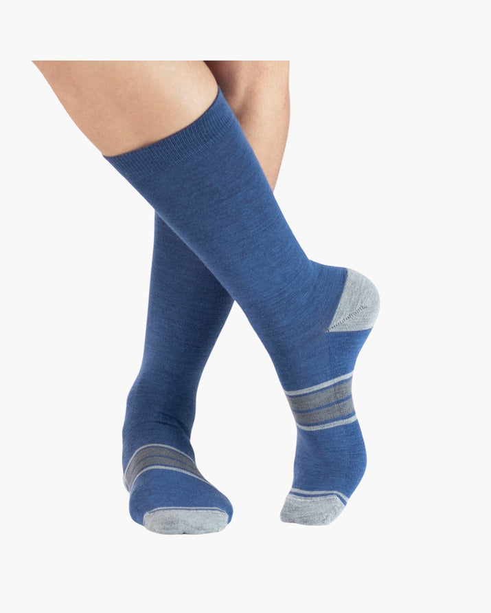 mens crew sock in yacht blue style