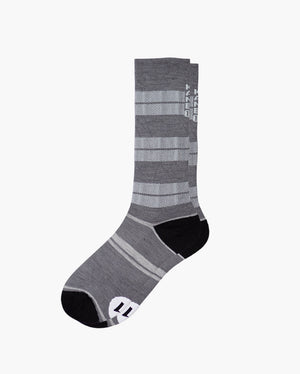 mens crew sock in asphalt laid flat