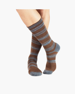 mens crew sock in cocoa style