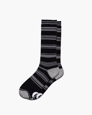 mens crew sock in midnight laid flat