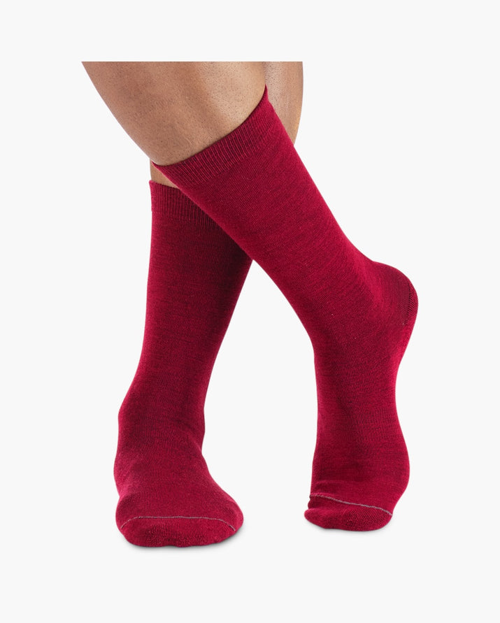 mens crew sock in racing red style