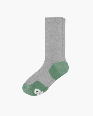 mens crew sock in wash crew green laid flat