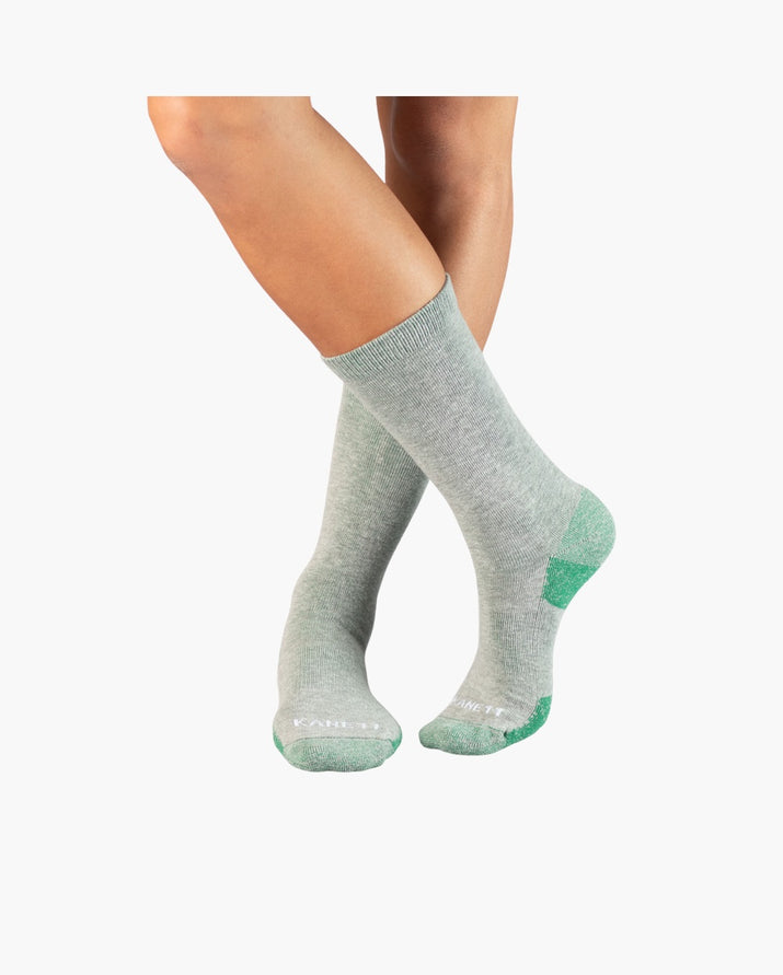 mens crew sock in wash crew green style