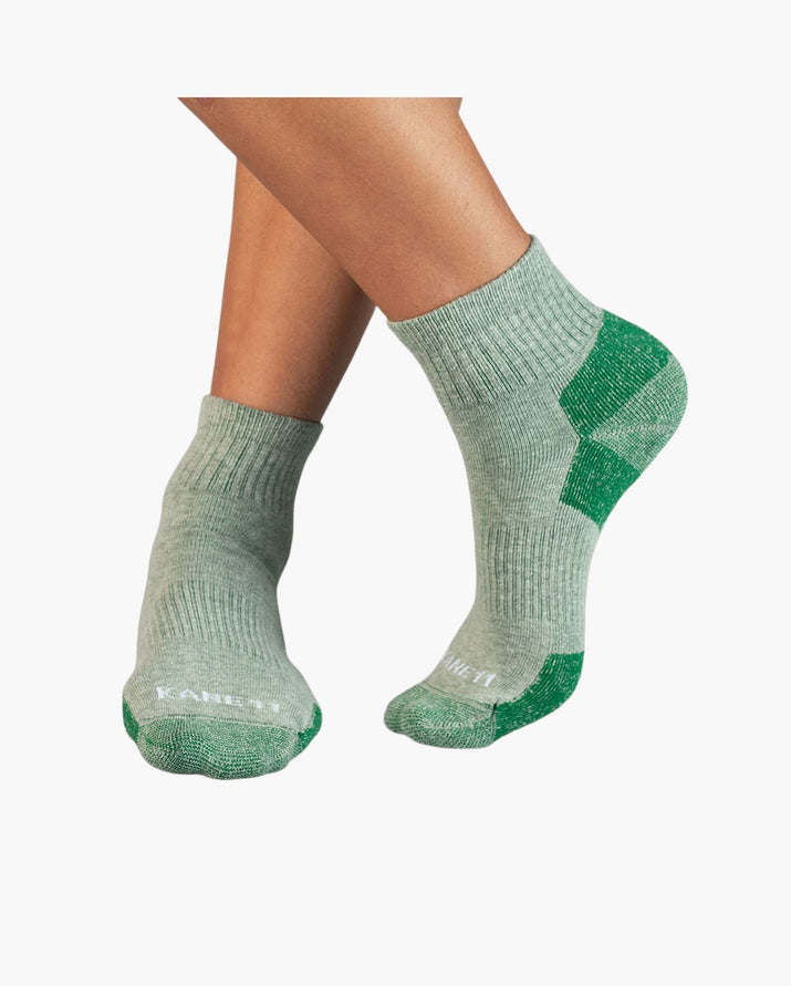 mens quarter sock in green style