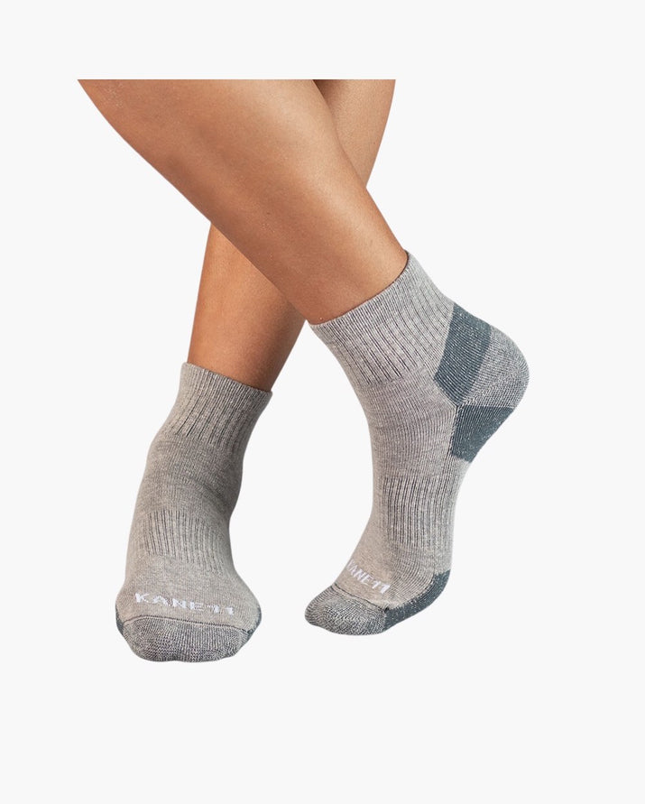 mens quarter sock in heather grey style