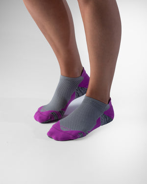 womens ankle sock in orchid with grey style