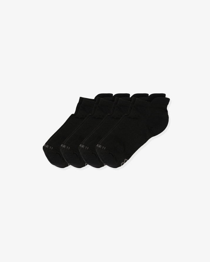 womens ankle sock in a 4 pack, color black.