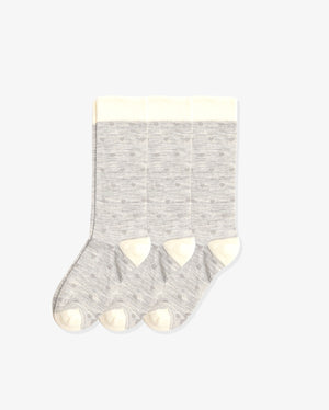 Womens 3 pack of crew socks. Three pairs of hearts with heather grey.