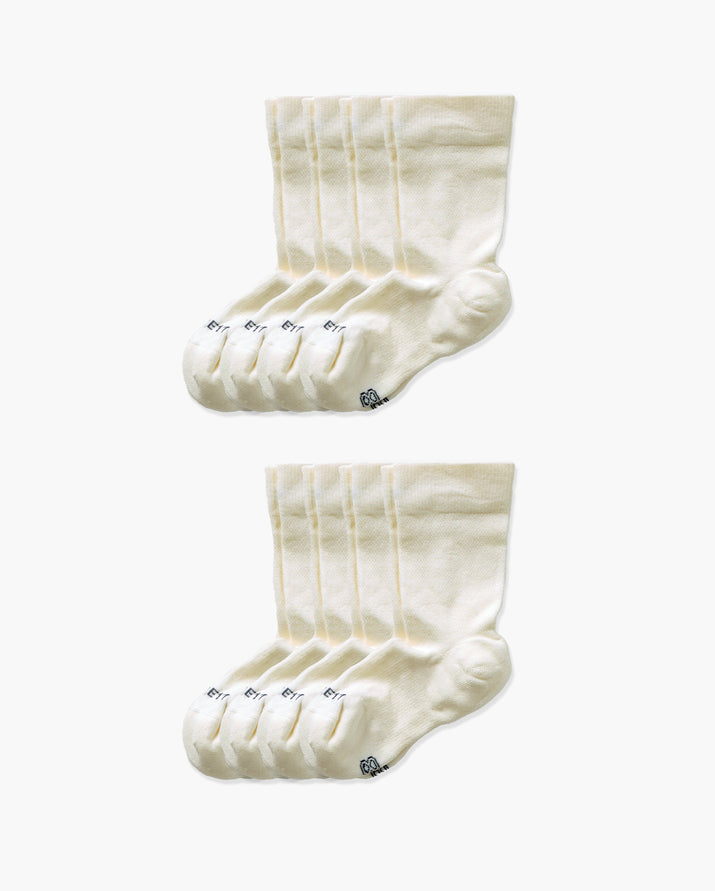 womens crew sock in a 8 ivory pack