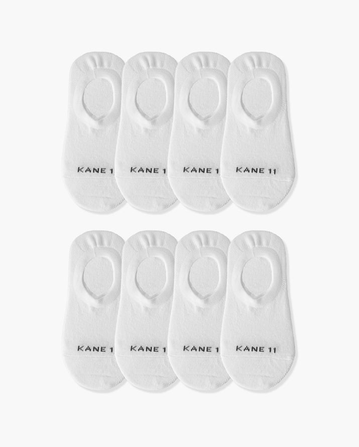 womens no-shows sock in a 8 white pack