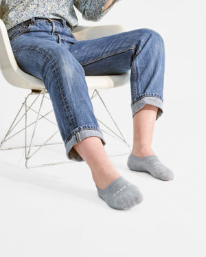 womens no-shows sock in heather grey style