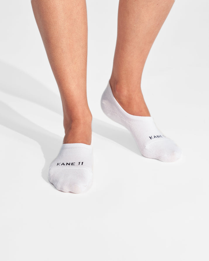 womens no-shows sock in white on feet