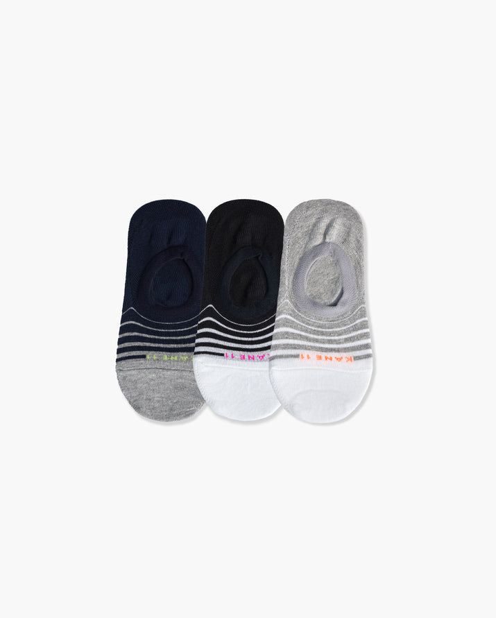 womens no-shows sock in a 3 mix pack
