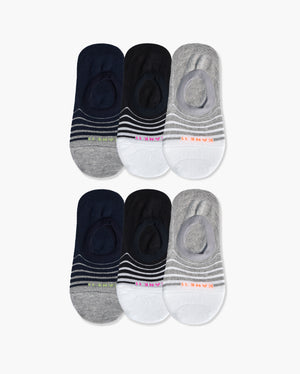 womens no-shows sock in a 6 mix pack