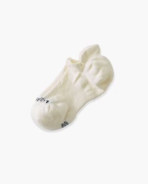 womens ankle sock in ivory laid flat