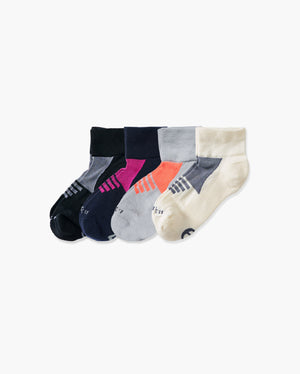 womens quarter sock in a 4 mix2 pack