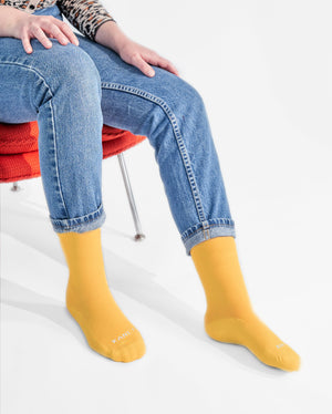 womens crew sock in yellow style