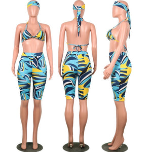 Geometric 3-Piece Swimsuit