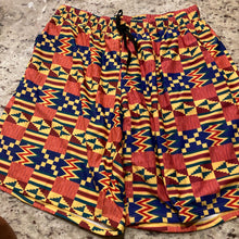 Basic Yellow Tribal Shorts
