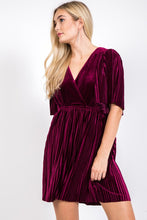 Load image into Gallery viewer, FINAL SALE - Deck the Halls Velvet Dress