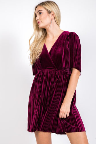 FINAL SALE - Deck the Halls Velvet Dress