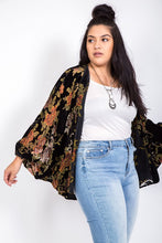 Load image into Gallery viewer, FINAL SALE - Floral Velvet Kimono // Beauties