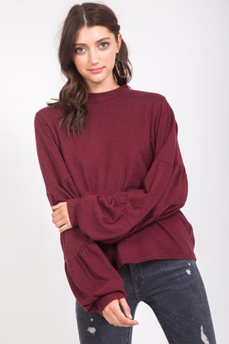 FINAL SALE - Statement Balloon Sleeve Sweater
