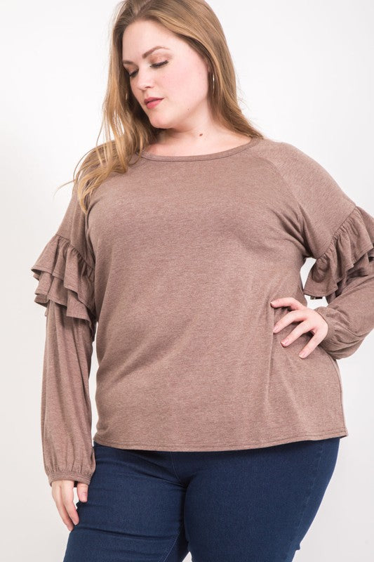 Flutter Bye Mocha Top // Beauties