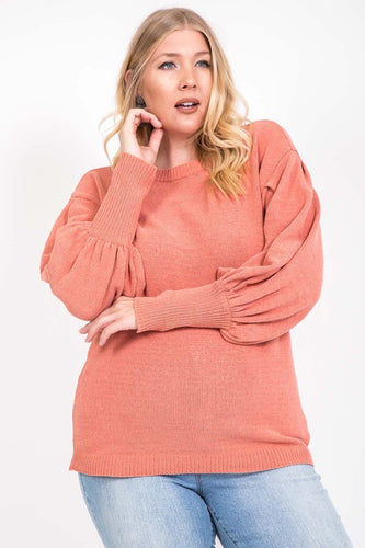 FINAL SALE - Peachy Keen Balloon Sweater // Beauties