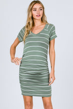 Load image into Gallery viewer, Ruched Striped Dress
