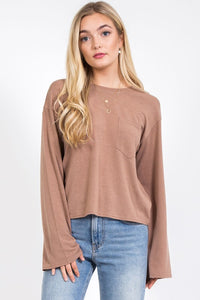 Bell Sleeve Twisted Mocha Lovely