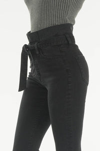 Skyler Black Paper Bag Jeans
