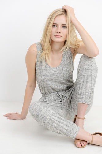 Marbled Heather Gray Jumper Lounger