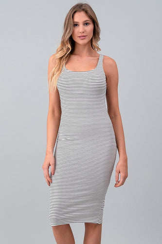 Chic Stripe Tank Dress