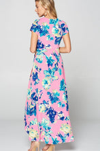 Load image into Gallery viewer, Bubble Gum + Flowers Dress