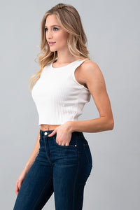 Ribbed Crop Tank