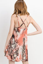Load image into Gallery viewer, Snake Print Cami Dress