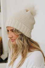Load image into Gallery viewer, Pom + Sherpa Beanie
