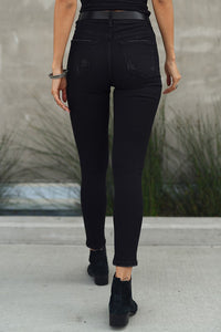 High Waisted Black Skinny
