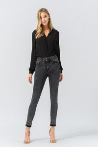 JENNA. Super High Rise Crop Skinny