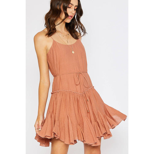 Ruffled Swing Cami Dress