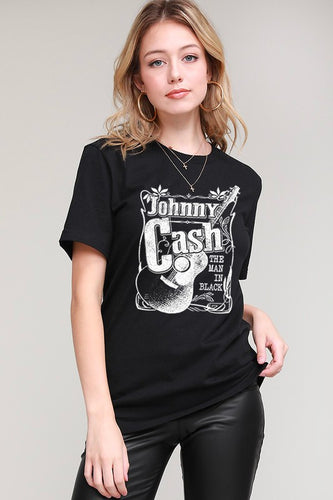 Johnny Man in Black Tee
